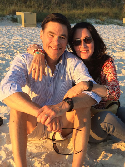 Dr. Mark Anderson and his wife, Nancy, in the Florida panhandle