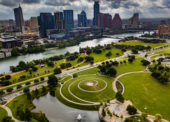 aerial view of Austin for USAP Texas Central