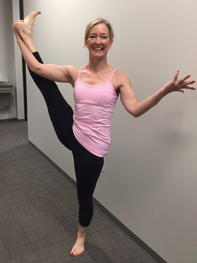 Dr. Cindy Calder is also a certified yoga instructor