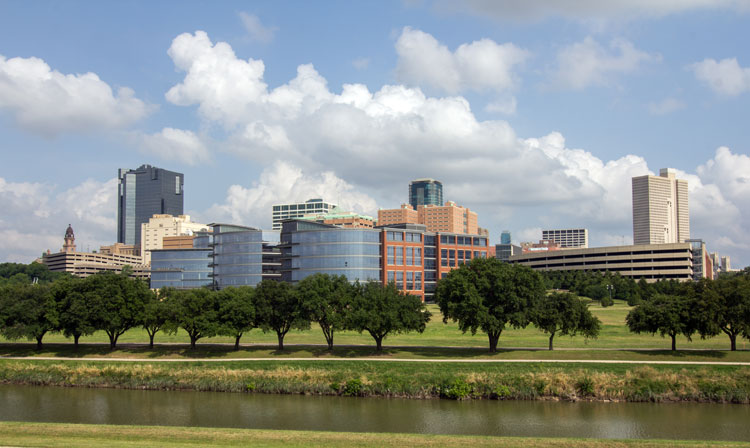The Trinity River in Fort Worth