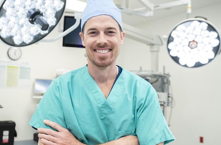 close up of male anesthesiologist